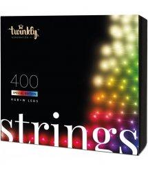 Twinkly Smart LED Гирлянда Twinkly Strings RGBW 400, BT+Wi-Fi, Gen II, IP44, кабель черный