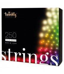 Twinkly Smart LED Гирлянда Twinkly Strings RGBW 250, BT+Wi-Fi, Gen II, IP44, кабель черный
