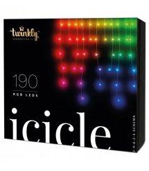 Twinkly Smart LED Гирлянда Twinkly Icicle RGB 190, BT+Wi-Fi, Gen II, IP44, кабель прозрачный