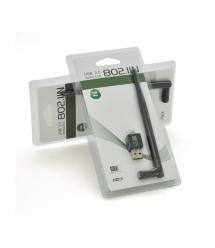 Беспроводной сетевой адаптер с антенной 5DBI Wi-Fi-USB Merlion LV-UW02-5DB, 802.11bgn, 150MB, 2.4 GHz, WIN7 - XP - Vista - 2K -