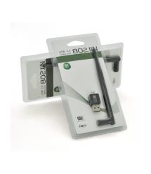 Беспроводной сетевой адаптер с антенной 20см 5DBI Wi-Fi-USB Merlion LV-UW02RK-5DB, 802.11bgn, 300MB, 2.4 GHz, WIN7 - XP - Vista