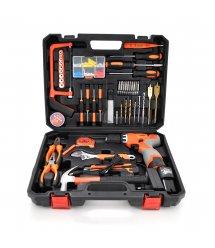 Набор инструментов Merlion DR1620K86 86 предметов + шуруповерт с двумя батареями 16.8V + зарядное устройство