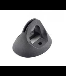 Кронштейн КП-3 пластиковый для плоских поверхностей и опор, крепление шурупами или бандажной лентой