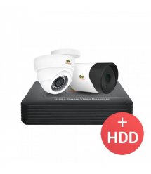 2.0MP Микс набор AHD-15 2xCAM + 1xDVR + HDD