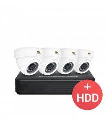 2.0MP Набор для помещений AHD-44 4xCAM + 1xDVR + HDD