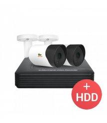 2.0MP Набор для улицы AHD-23 2xCAM + 1xDVR + HDD
