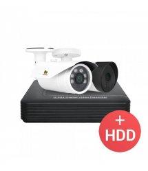 2.0MP Набор для улицы PRO AHD-36 2xCAM + 1xDVR + HDD