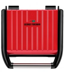 Электрогриль George Foreman 25040-56 Family Steel Grill, 1650 Вт, Красный