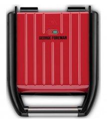 Электрогриль George Foreman 25030-56 Compact Steel Grill, 1200 Вт, Красный