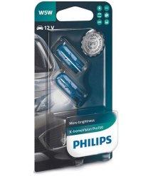 Лампа накаливания Philips W5W X-Treme Vision Pro , 2шт/блистер