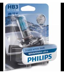 Лампа галогенная Philips HB3 WhiteVision Ultra +60%, 3800K, 1шт/блистер