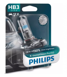 Лампа галогенная Philips HB3 X-treme VISION PRO +150%, 3700K, 1шт/блистер