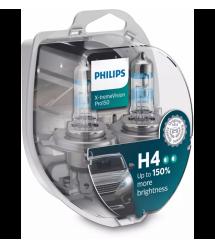 Лампа галогенная Philips H4 X-treme VISION PRO +150%, 3700K, 2шт/блистер