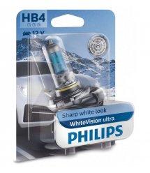 Лампа галогенная Philips HB4 WhiteVision Ultra +60%, 4200K, 1шт/блистер