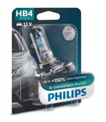 Лампа галогенная Philips HB4 X-treme VISION PRO +150%, 3700K, 1шт/блистер