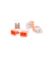 Самозажимная 2-проводная клемма WAGO К773-202, 2-pin, прозрачно-оранжевая