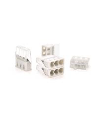 Самозажимная 3-проводная клемма WAGO К773-203, 3-pin, прозрачно-серая
