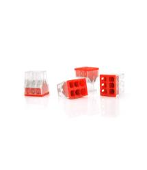 Самозажимная 6-проводная клемма WAGO К773-206, 6-pin, прозрачно-красная