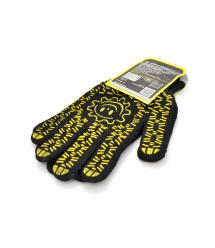 Перчатки Х - Б черные уплотненные 7 класс цена за пару.