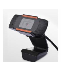 Вебкамера с гарнитурой F37, 1080p, пласт. корпус, Black, OEM
