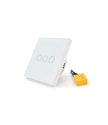 WiFi сенсорный выключатель SCRIOR + RF alexa голосовое управление, 3-канальный, настенный