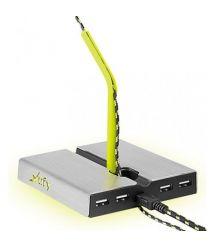 Держатель для кабеля Xtrfy B1 with 4 USB2.0, Grey-Yellow
