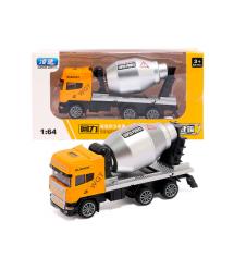 Детская машинка бетономешалка, orange-gray