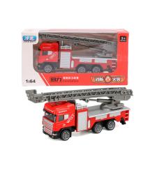 Детская пожарная машинка-лестница, red-gray
