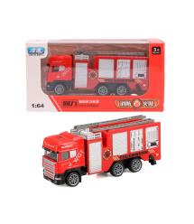 Детская пожарная машинка, red-gray