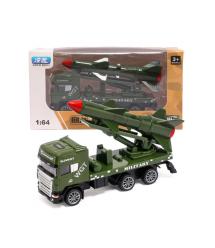 Детская машинка-ракетоноситель, green-gray