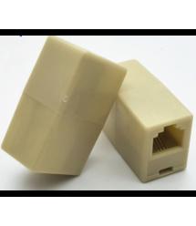 Соединитель RJ45 6p4C мама - мама RJ11 для соединения кабеля, белый, Q100