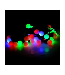 Гирлянды 40LED (Шарики) Red - Green - Blue - Yellow, 1 режим, 5метров, черная изоляция, Пакет