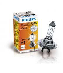 Лампа галогенная Philips H7 Vision, 3200K, 1шт/картон