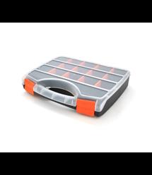 Пластмассовый переносной ящик для инструментов 60 х 250 х 310, 15 отделений