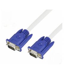 Кабель Merlion VGA 3+4 1.8m, male to male (папа-папа), 1 феррит, бело-синий, пакет Q200