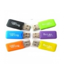 Кардридер универсальный MERLION CRD-1BK TF - Micro SD, USB2.0, Black, OEM Q1500