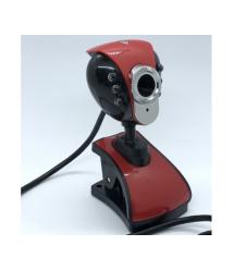Вебкамера с гарнитурой DC-899, 640p, пласт. корпус, Black - Red, Box