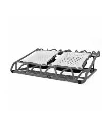 Подставка под ноутбук DCX-009, 9-17, 2x120mm LED 150010% RPM, корпус пластик, 2xUSB 2.0, 383x285x50mm, Black, Box,Q20