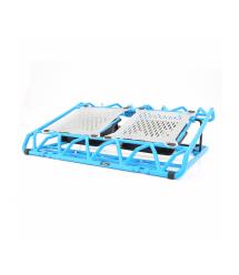 Подставка под ноутбук DCX-009, 9-17, 2x120mm LED 150010% RPM, корпус пластик, 2xUSB 2.0, 383x285x50mm, Blue, Box,Q20