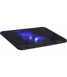 Подставка под ноутбук DCX-019, 9-17, 150mm LED 150010% RPM, корпус пластик, 2xUSB 2.0, 350x265x35mm, Black, Box Q30