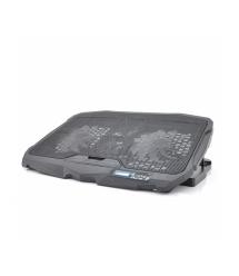 Подставка под ноутбук S18(DCX-025) 4 fans+ LCD, 9-17, 2 х125mm LED 50010% RPM, корпус пластик, 2xUSB 2.0, 390x280x28mm, Black, B