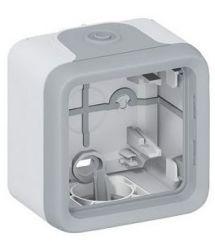 Legrand Plexo коробка накладного монтажа с мембранными сальниками 1 пост серый