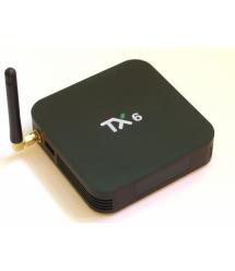 Медиа приставка TX-6 4 - 32G Smart TV Box ( Android 9.0, ОЗУ 4 Гб, 32Гб встроенной памяти,4-х ядерный процессор Allwinner H6 (1,