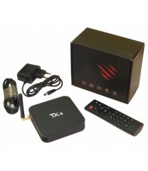 Медиа приставка TX-6 4 - 64G Smart TV Box (Android 9.0, ОЗУ 4 Гб, 64Гб встроенной памяти,4-х ядерный процессор Allwinner H6 (1,5