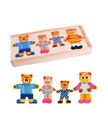 Детская развивающая игра Четыре маленьких медведя