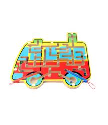 Детская деревянная игрушка Лабиринт-машинка