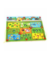 Детская деревянная игрушка Лабиринт-животные