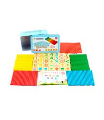 Детские деревянные счетные палочки + цифры для развития математических способностей