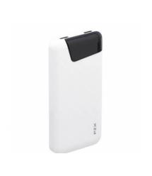 Power bank 10000mAh PZX-YV07, USB-2.1A + 1A + кабель USB micro, White, Blister-BOX