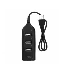 Хаб USB 2.0 4 порта, Black, 480Mbts питание от USB, Blister Q200